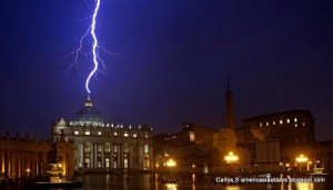 Lightning strikes twice- when Pope Benedict XVI resigns!