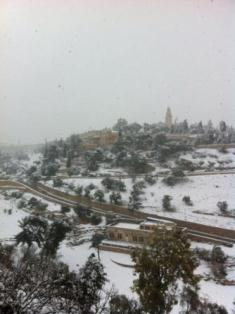 Jerusalem clothed in Snow!