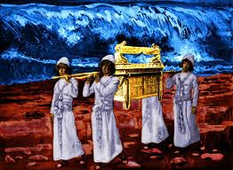 The Levitical Priesthood carrying the Ark of the Eternal Covenant