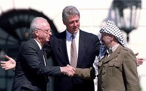 Israel Prime Minister Yitzak Rabin, U.S. President Bill Clinton & PLO Chairman Yasser Arafat