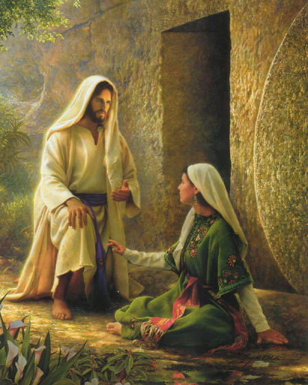 Mary Magdalene recognizes her Messiah!