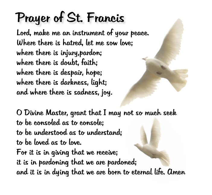 Witty image within st francis prayer printable