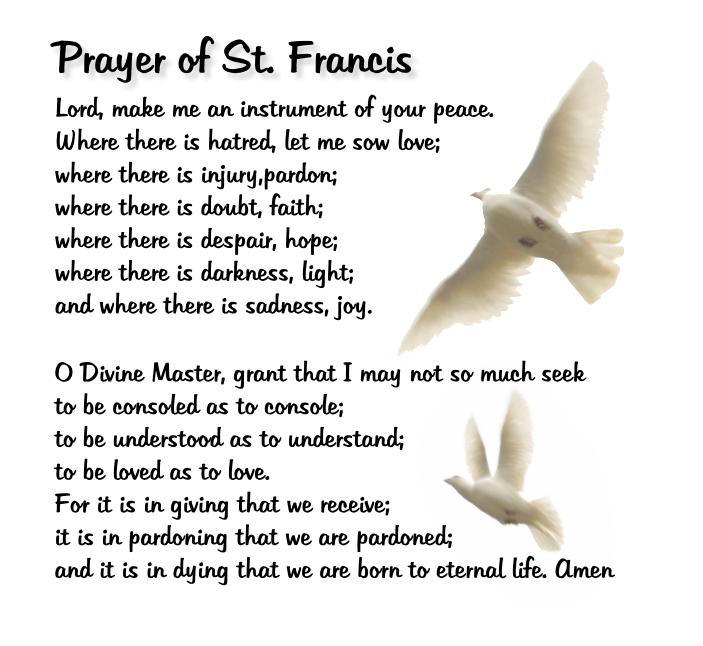 Superb image with st francis prayer printable
