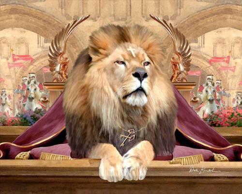 Jesus- Lion of Judah Enthroned