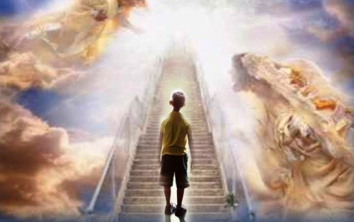Boy on Stairway to Heaven
